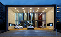Daimler and the German government will evaluate Conductix-Wampfler inductive electric vehicle charging -- and 100% zero-emission living -- at this house in Berlin beginning in March 2012