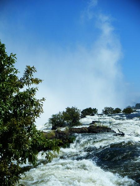 Upstream of the falls.