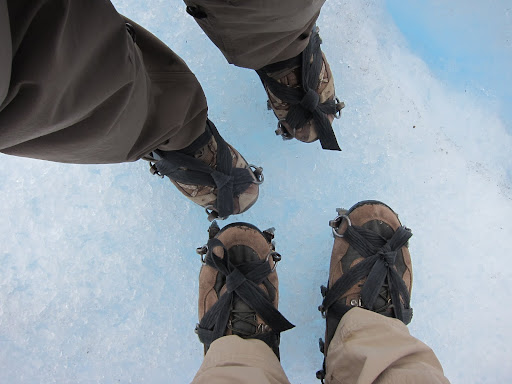 Crampons which allowed us to easily hike around the glacier.