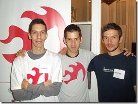 Andrés, Sebastián y Carlos Salvático