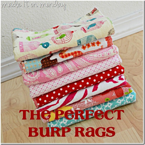 The Perfect Burp Rags at Made it on Monday