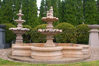 10' Low Quatrefoil Fountain Pool Surround, Giallo Fantasia