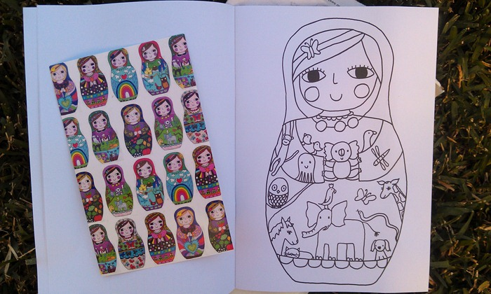 inside colouring book