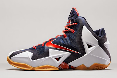 nike lebron 11 gr black white red mango 3 03 independence day Release Reminder: Nike LeBron XI to Rock on July 4th