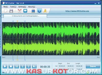 Cara Cepat Cut dan Split Mp3 - MP3 Cutter