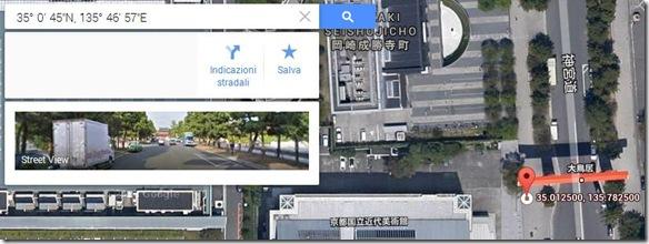 Foto geolocalizzata con dati GPS in Google Maps