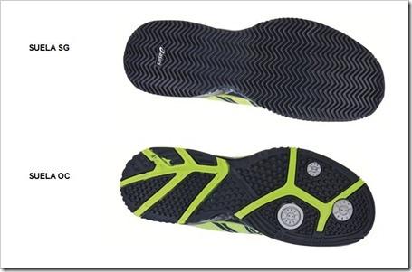 Suelas zapatillas de padel ASICS 2013