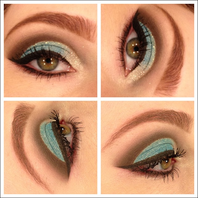 maquiagem usando pigmento