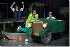 Tom Deckman (Mole), Tituss Burgess (Mr. Toad), Nick Choksi (Water Rat), photo by T. Charles Eric