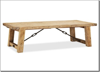Pottery Barn reclaimed wood table