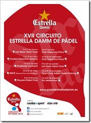 CALENDARIO OFICIAL CIRCUITO ESTRELLA DAMM 2013 PADEL