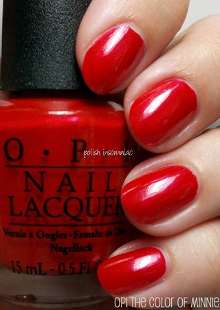 OPI The Color of Minnie (Minnie Mouse collection)