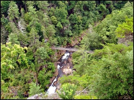 25e3 - North Rim Trail - view Hurrican Falls Bridge