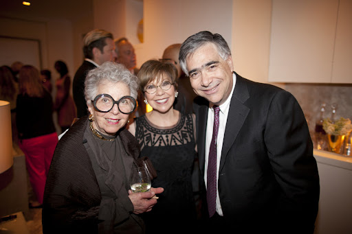 Sylvia Weinstock, Anne Barge, and Jonathan Scheer