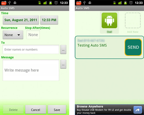 How to Send Pre-set Automatic SMS & Replies To SMS And Missed ...