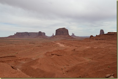 General view over Monument Valley