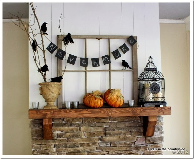 halloween party mantel decor