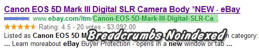 ebay breadcrums noindex