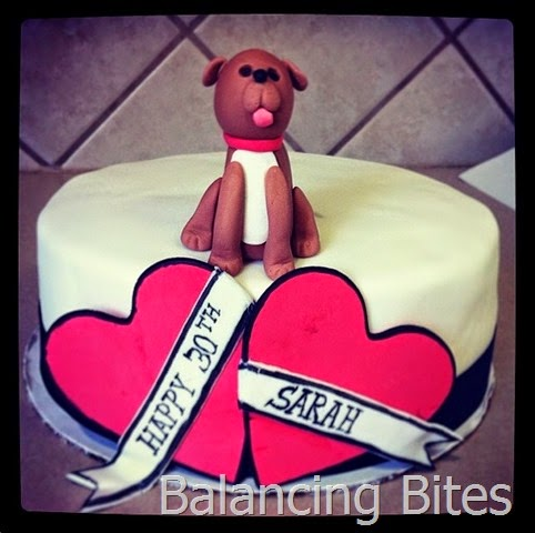 Tattoo and Dog Birthday Cake