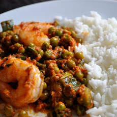 Indian Shrimp with Ginger and Peas