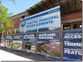 Obra de ampliación del hospital municipal de San Clemente