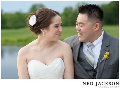 white and yellow wedding