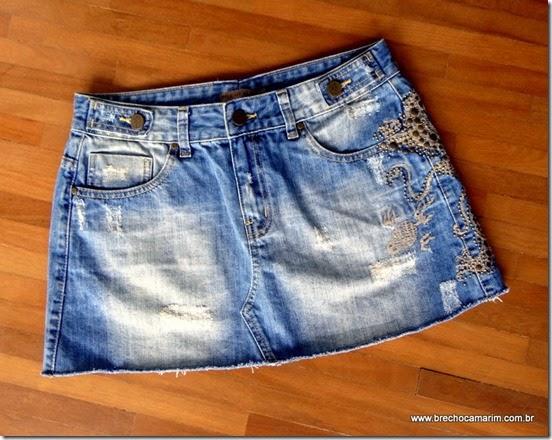 saia jeans Lelis Blanc