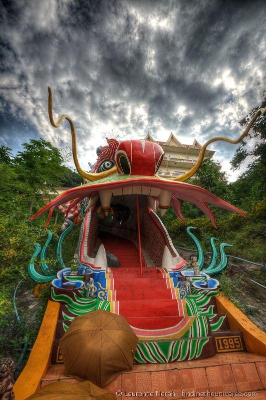 Dragon staircase Wat Ban Tham Thailand Kanchanaburi final