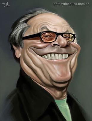 La caricatura de Jack Nicholson