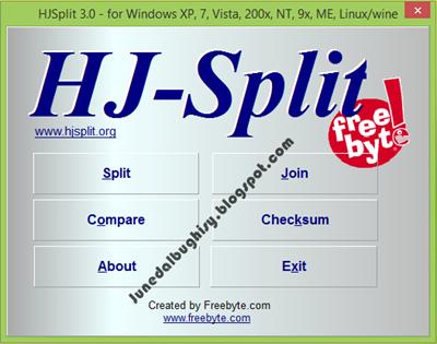 Cara Menggabungkan File dengan HJ-Split 01