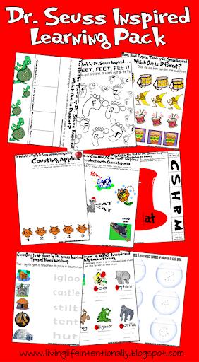 math worksheet : free seussical learning pack : Dr Seuss Kindergarten Worksheets
