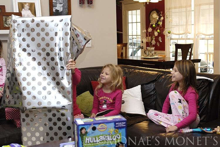 Brianna opening gift blog