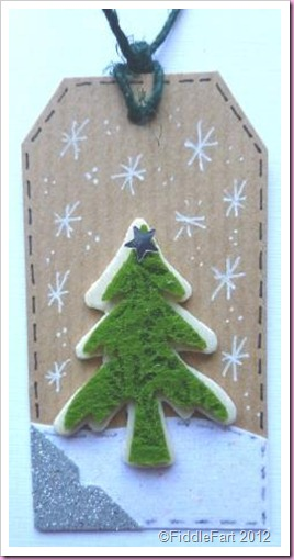 Kraft Card Christmas Tree Tag.