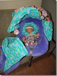 Modest Mommies: Infant Carseat going home