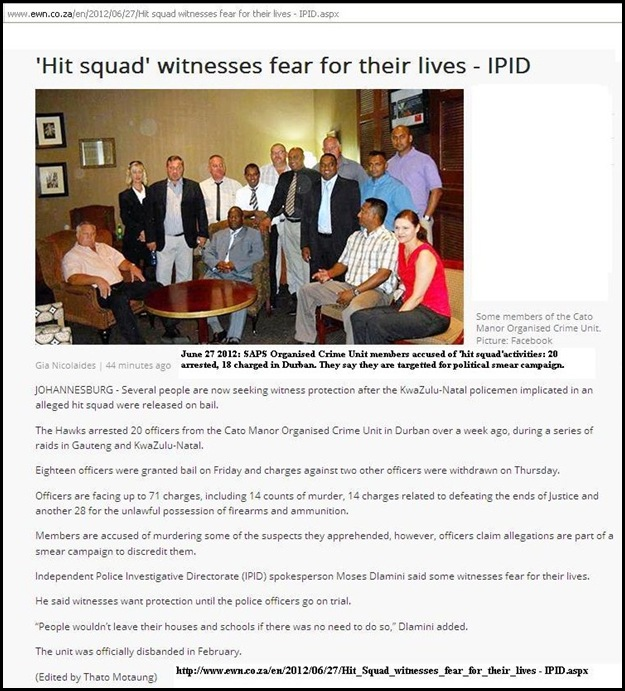CATO MANOR HIT SQUAD SAPS ACCUSED FEAR FOR THEIR LIVES RADIO 702 JUNE272012