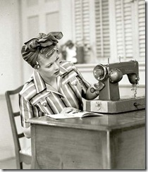 lucy sewing
