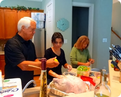 getting turkey ready