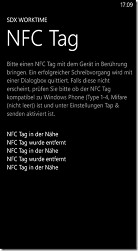 Windows Phone NFC
