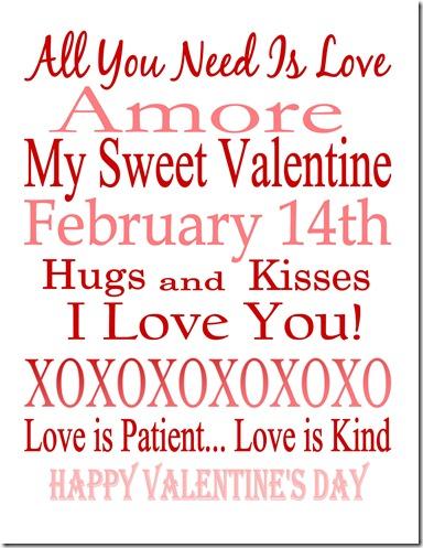 Valentind Day Printable SJB