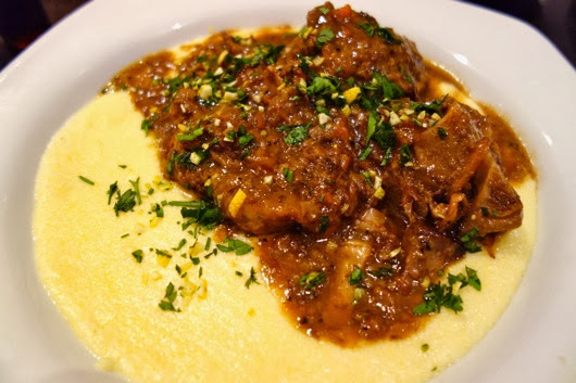 Braised Oxtail on polenta and gremolata - rich and creamy, hit the ...