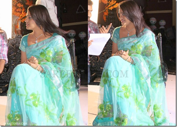 Ramya_Nambasen_Green_Printed_Saree