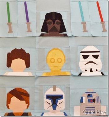 Paper Pieced LEGO Star Wars blocks progress