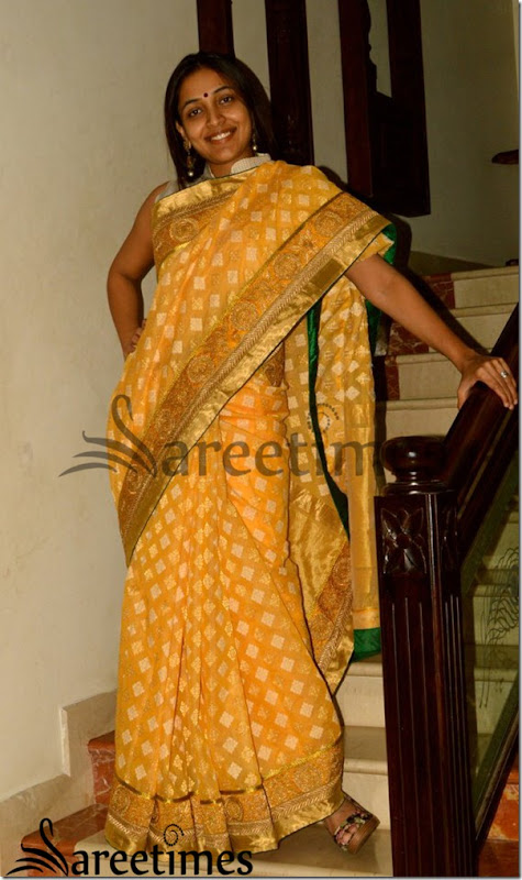 Yellow_Benaras_Saree