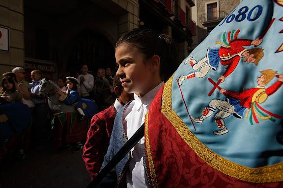 El ball de bastons. Festa major de Solsona. Solsona, Solsonès, Lleida