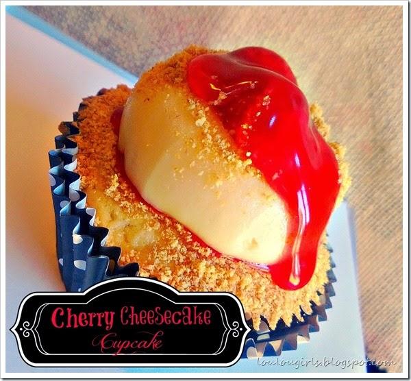 cherry cheesecake cupcake