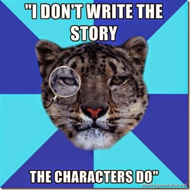 I don't write the story