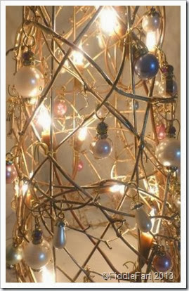 WholePort beads. bejewelled Christmas tree. Dunelm Mill Christmas tree