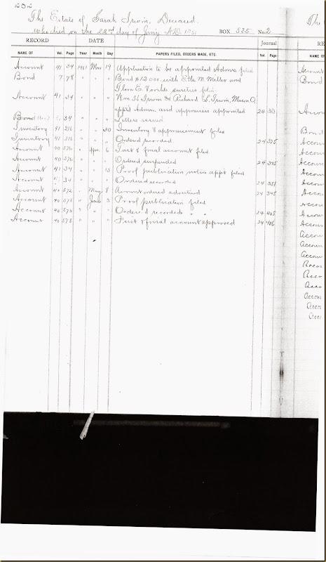 Sarah Harper Irwin Estate 22 January 1901_0002