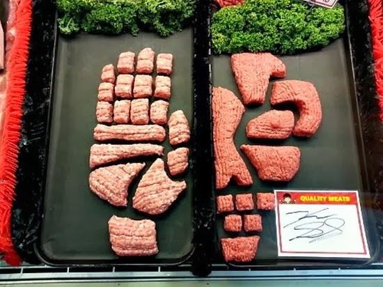 Esculturas de carne Halloween 02