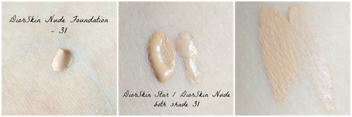 diorskin nude 31 diorskin star 31 foundation swatch
